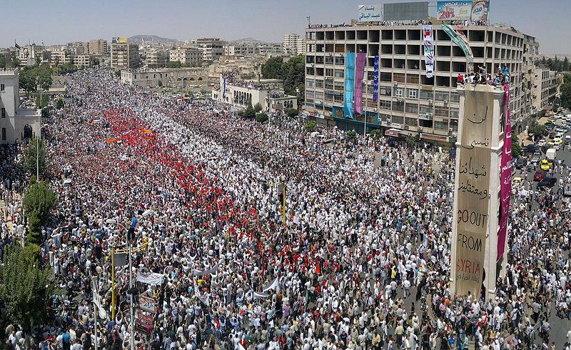 Proteste a Hama, Al-Assy Square, 22 luglio 2011