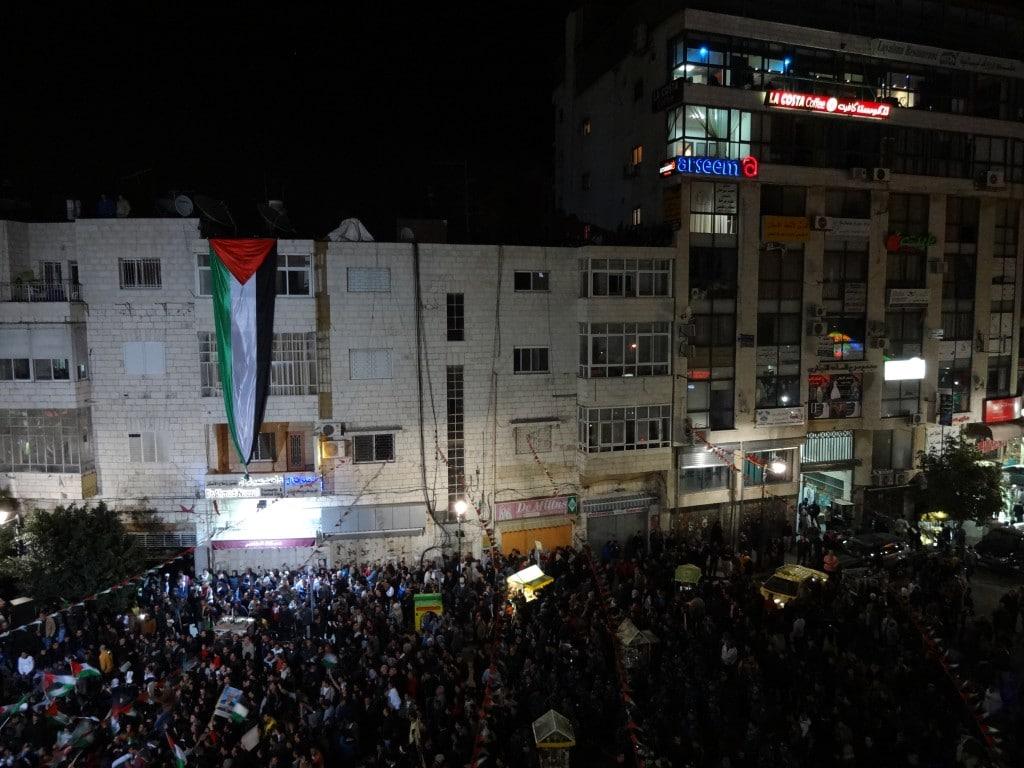 Festeggiamenti a Ramallah, foto di Camilla Corradin