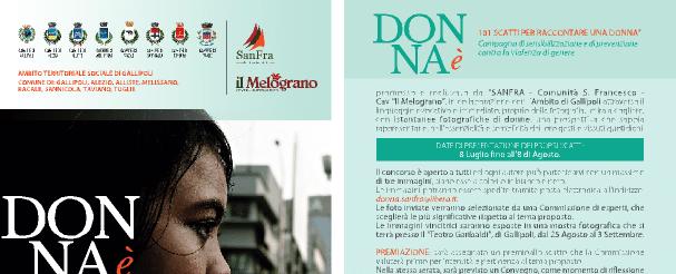 """Cartolina della campagna """"Donna è"""" - 25 novembre 2014"""