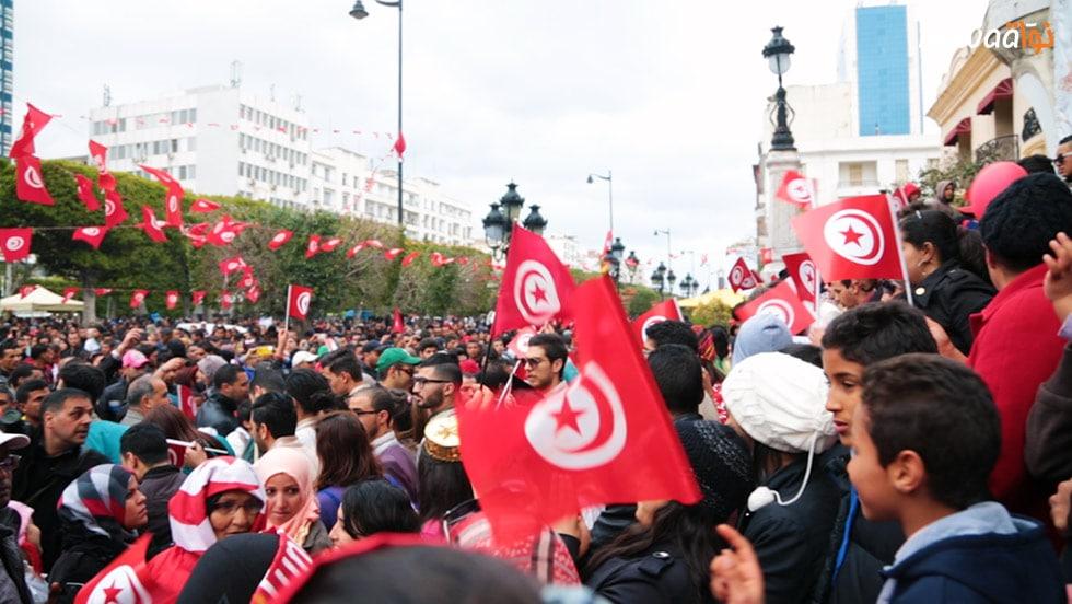Tunisini contro il terrorismo, Festa dell'Indipendenza, 20 marzo 2015. Da Nawaat.org su licenza CC.