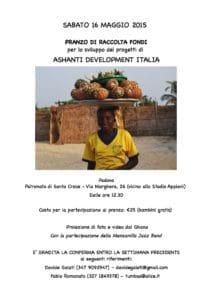 Pranzo di raccolta fondi Ashanti Development Italia, Padova 16 maggio 2015