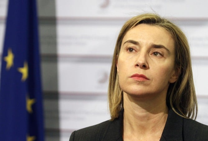 Federica Mogherini. Valda Kalnina/EPA.