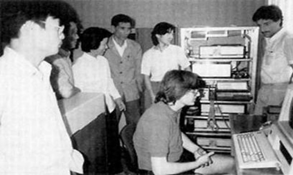 Il 20 aprile 1994, la Chinese Academy of Sciences (CAS) Institute of High Energy Physics (IHEP) realizzò la prima connessione a Internet ufficializzando l'ingresso della Cina nel Web - Foto tratta dal Web
