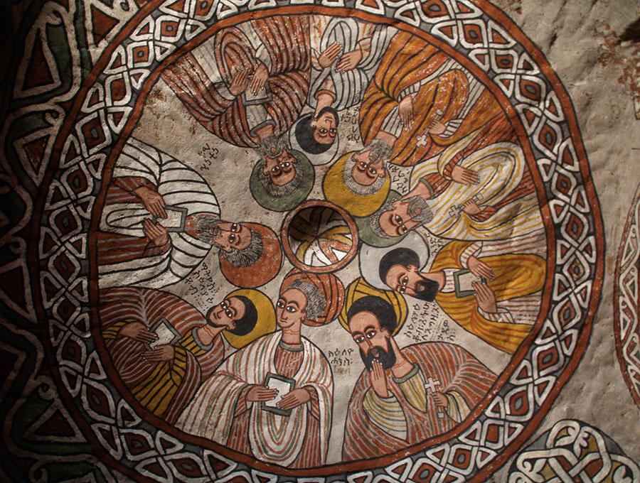 Volta della chiesa rupestre di Abuna Yamata Guh, Tigray, foto dell'utente Flickr Evgeni Zotov su licenza CC.