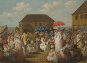 Linen Market, Dominica ca. 1780 by Agostino Brunias. Wikimedia Commons.