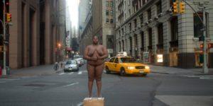 Autoscatto a Wall Street dove prima si trovava un mercato degli schiavi. © All Rights Reserved Nona Faustine