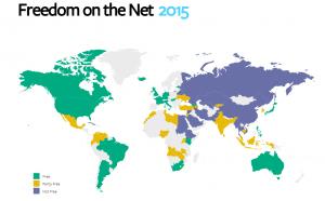 Clicca per accedere all'infografica interattiva di Freedom House 2015