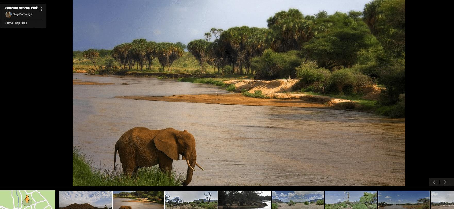 Printscreen del servizio Google, Samburu National Reserve, Kenya.