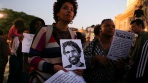Manifestazioni a sostegno di Luaty Beirão, foto di José Sena Goulão/Lusa.