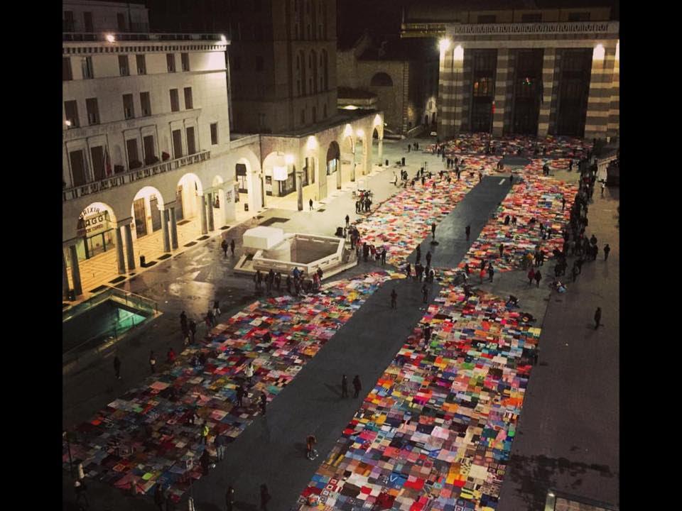 """Foto di Piazza Vittoria, Brescia, immagine pubblicata dalla comunità Facebook """"Viva Vittoria""""."""