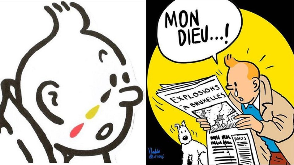 Tributo a Tintin che è stato postato sul web