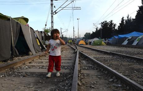 Campo a Idomeni, Grecia. Foto fornita dagli autori.