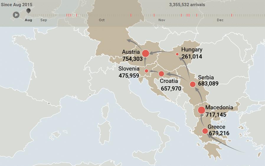 Quali i dati dei flussi migratori? La mappa di Qlik per scoprirlo in un click