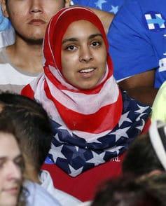 Patriottismo, politica e hijab si uniscono ad un raduno democratico negli Stati Uniti. EPA