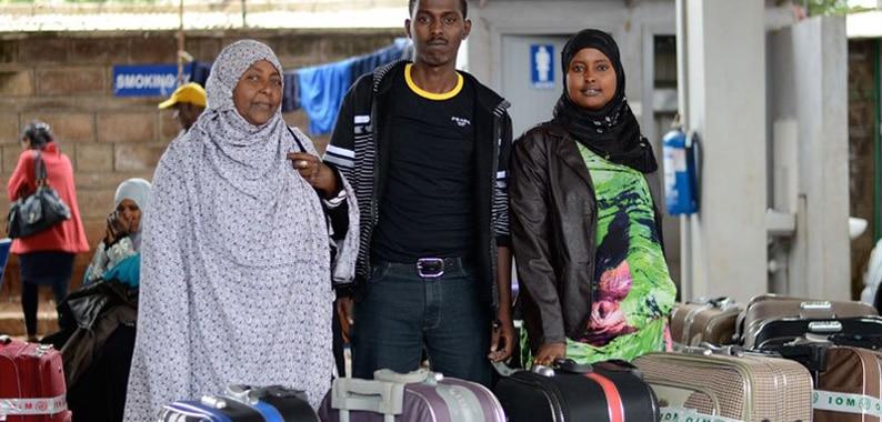 Un gruppo di rifugiati