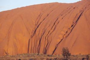 Uluru, foto ravvicinata. Immagine Flickr dell'utente Ellen Forsyth. Licenza CC.