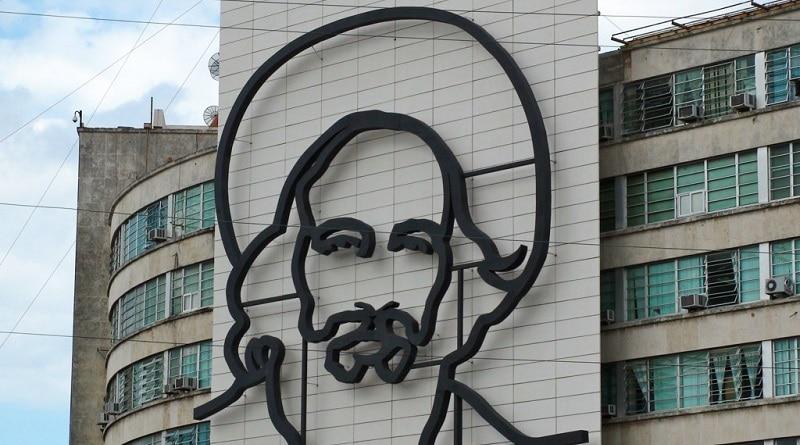 Castro portrait in Plaza De La Revolucion