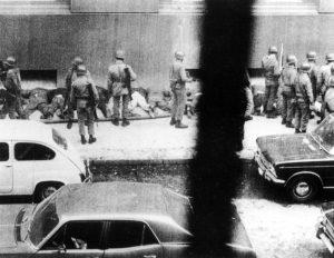 I collaboratori di Salvador Allende tra cui Juan Montiglio in Morandè 80