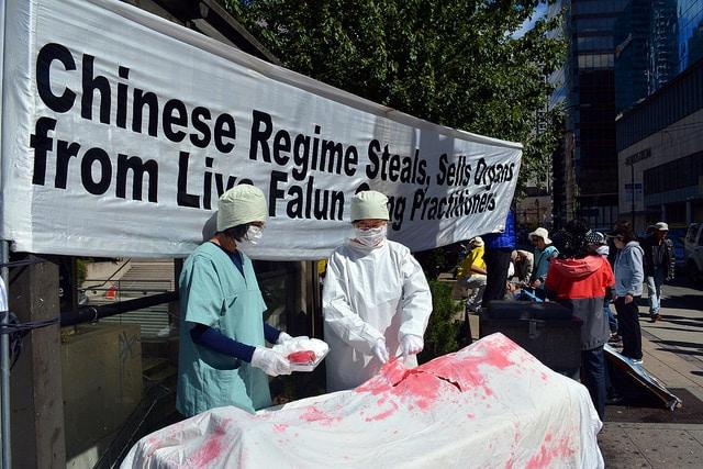 Campagna contro l'espianto illegale di organi in Cina. Scattata il 4 settembre 2016. Foto ripresa da Flickr/Jeremy Board. Alcuni diritti riservati.