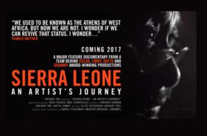 """""""Sierra Leone"""", film del giornalista Sorious Samura finanziato via crowdfunding e programmato per l'uscita nel corso del 2017, schermata del progetto su Kickstarter."""