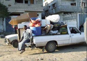 L'esodo di Rafah. Scattata il 7 gennaio 2009. Immagine ripresa da Flickr/RafahKid kid. Alcuni diirtti riservati.