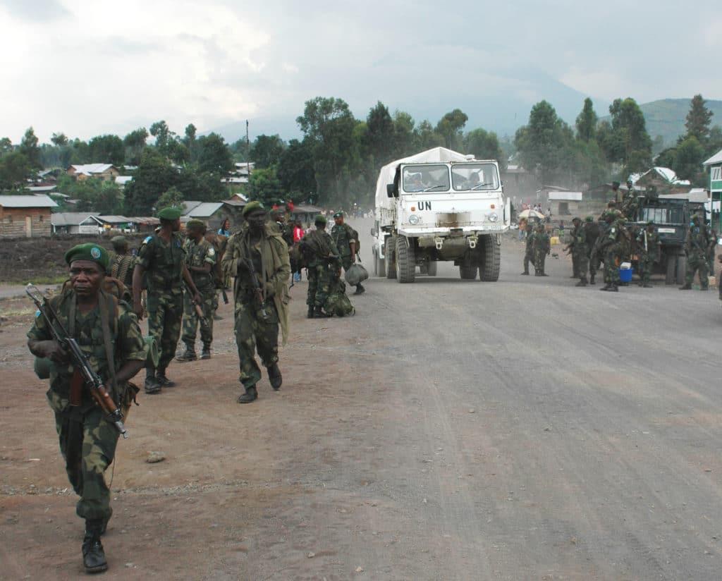 Truppe delle Nazioni Unite a Goma. Utente Flickr MONUSCO, Licenza CC.