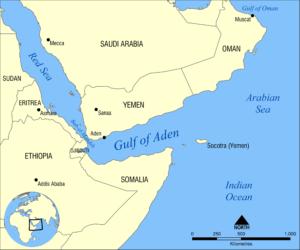 Mappa del Golfo di Aden dell'utente Flickr NormanEinstein. Licenza CC.