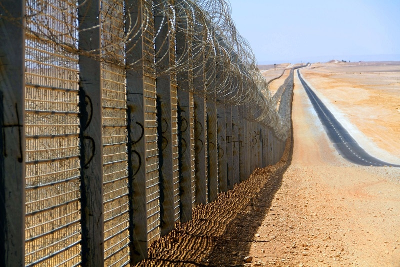 Frontiera tra Israele ed Egitto, foto Wikipedia.