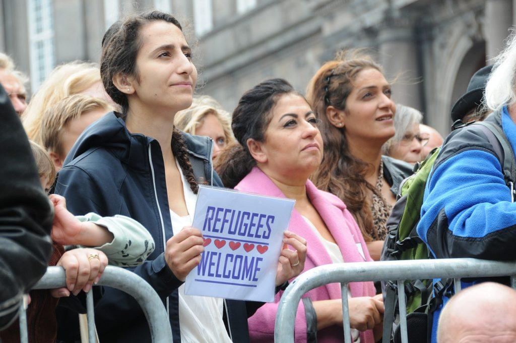 refugees welcome manifestazione