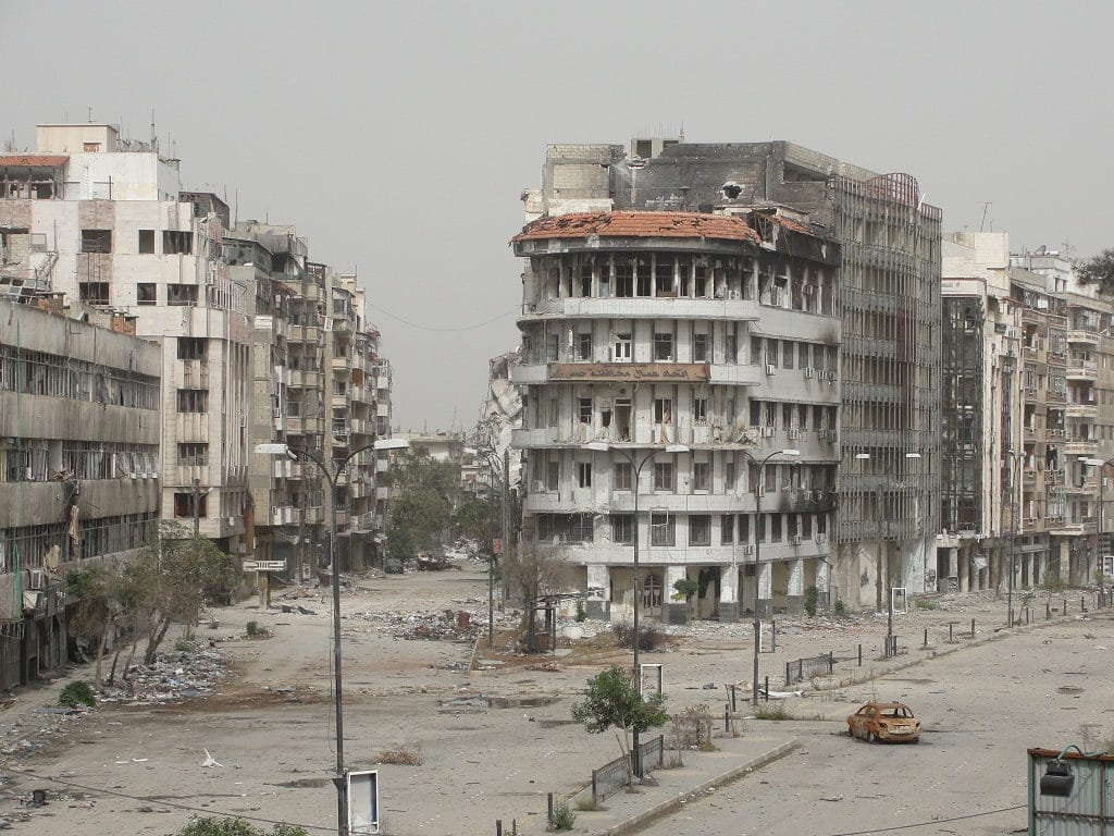 Homs distrutta - Foto da Flickr Creative Commons - H.usa