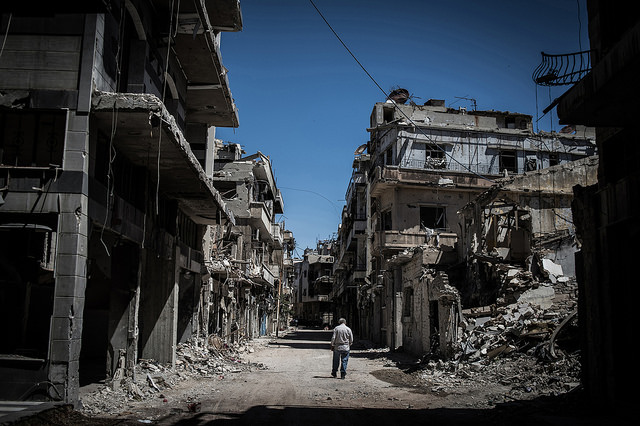 Homs distrutta. Foto Flickr Creative Commons - Pan Chaoyue