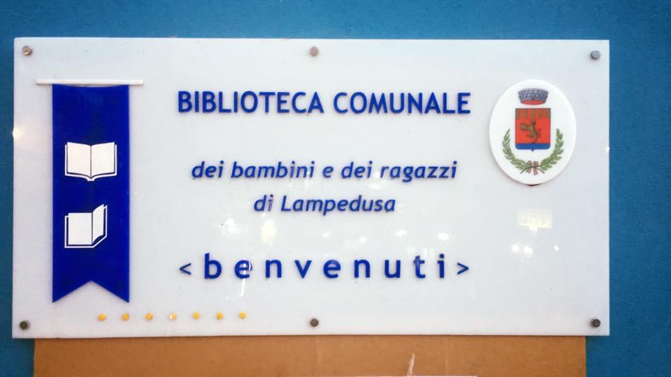 Biblioteca di Lampedusa - Foto da Ibby Italia Facebook