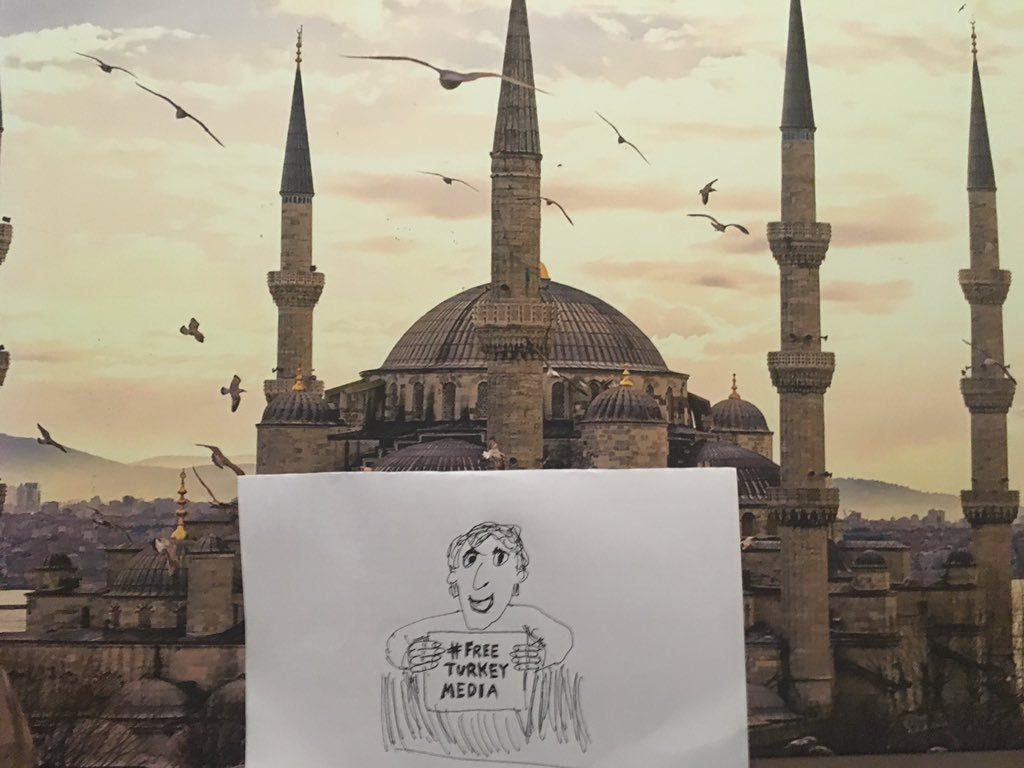 Campagna Free Turkey Media. Foto dell'autore Stefan Simanowitz