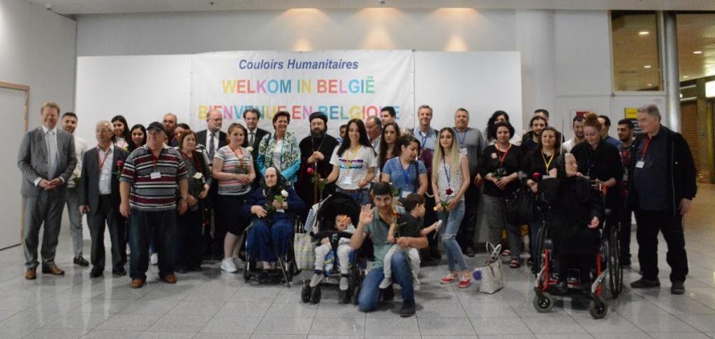 Profughi arrivati in Belgio con corridoio umanitario - Foto da pagina Twitter Comunità Sant'Egidio