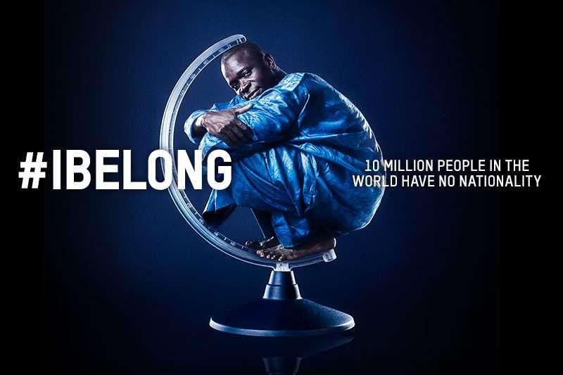 """Locandina campagna """"IBelong"""" - Foto dal sito dell'UNHCR"""