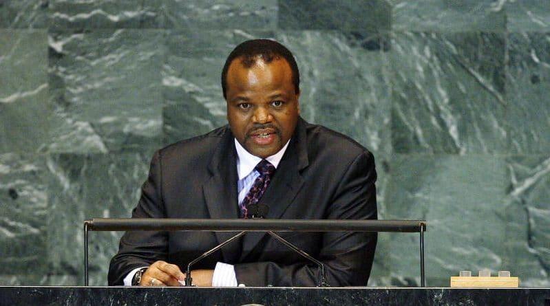 Il Re dello Swaziland durante un discorso all'Assemblea Generale. Immagine ripresa da Flickr/United Nations Photo in licenza CC. Alcuni diritti riservati.