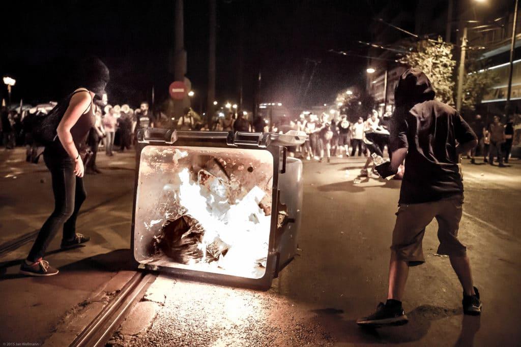 Proteste contro il piano di austerità ad Atene - 2015 - Foto Flickr Creative Commons - Jan Wellmann