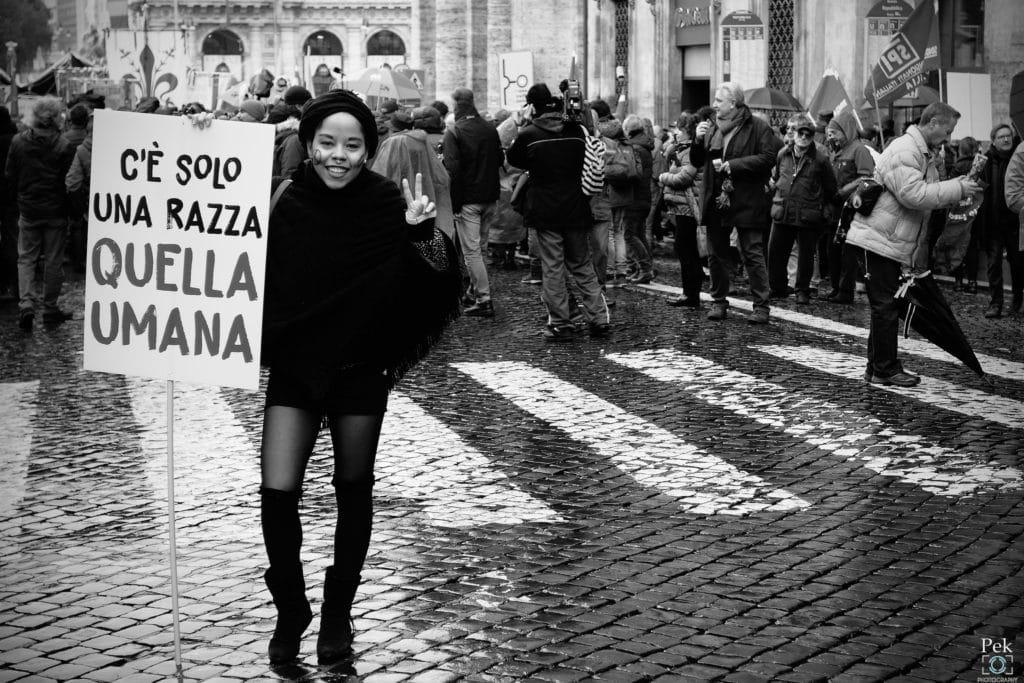 Manifestazione nazionale Mai più fascismi in Italia-Flickr Creative Commons - Bruno