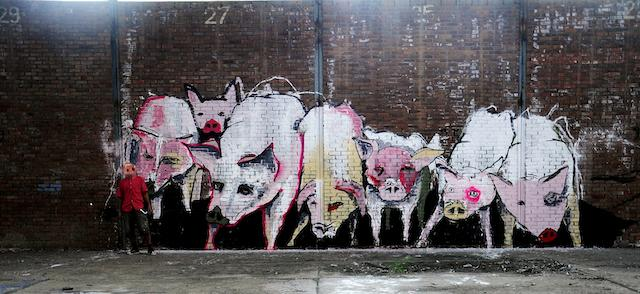 """Adekan. """"Omuzia"""", 2012. Facce distorte per nascondere l'identità. Tutti i diritti riservati"""