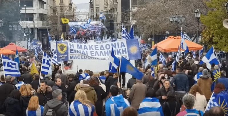 Manifestazione greca contro accordi con Macedonia - gennaio 2019 - Foto da Video Blastingnews