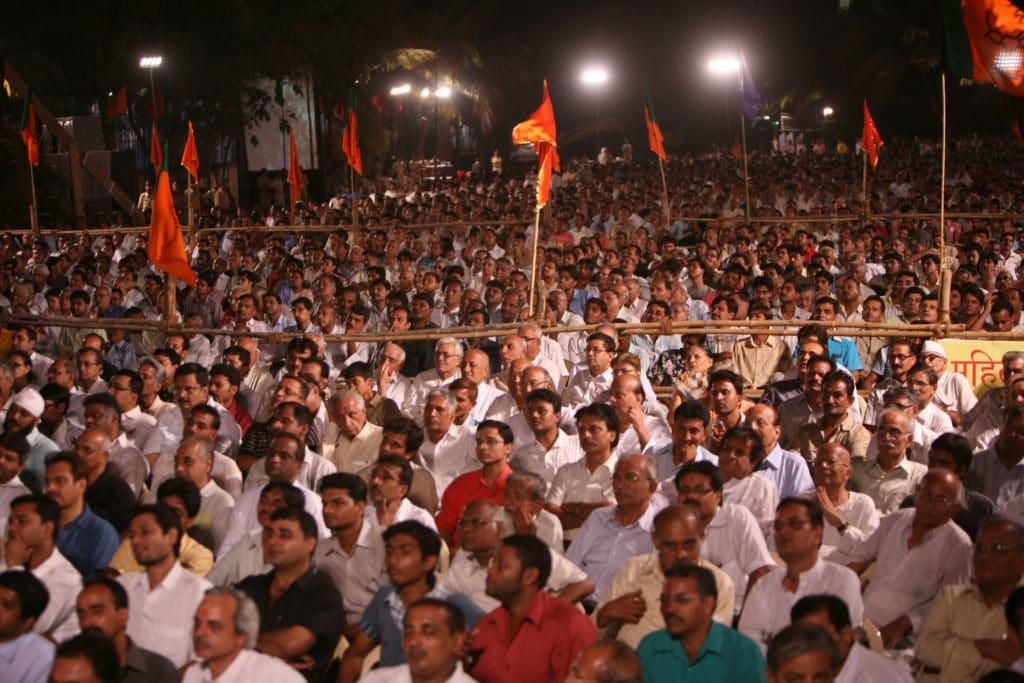 I sostenitori del BJP. Pubblicata in licenza CC da autore Flickr/Al Jazeera English. Alcuni diritti riservati.