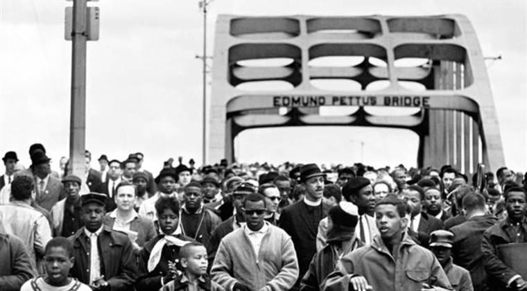 L'Edmund Pettus Bridge, ponte che è stato teatro delle marce da Selma a Montgomery nel 1965 per i diritti civili degli afroamericani