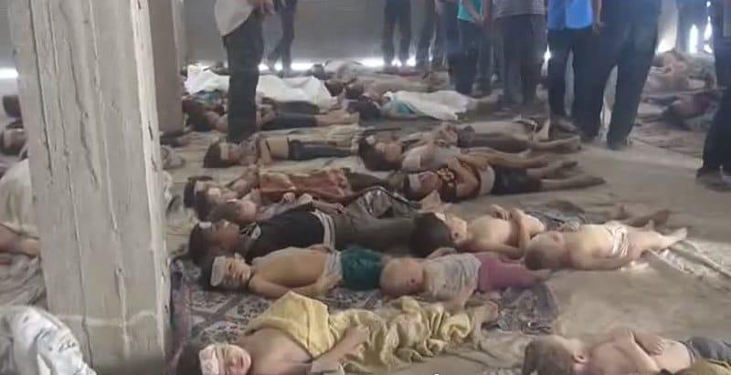 Bambini colpiti dall'attacco chimico a Ghouta - Wikimedia Commons