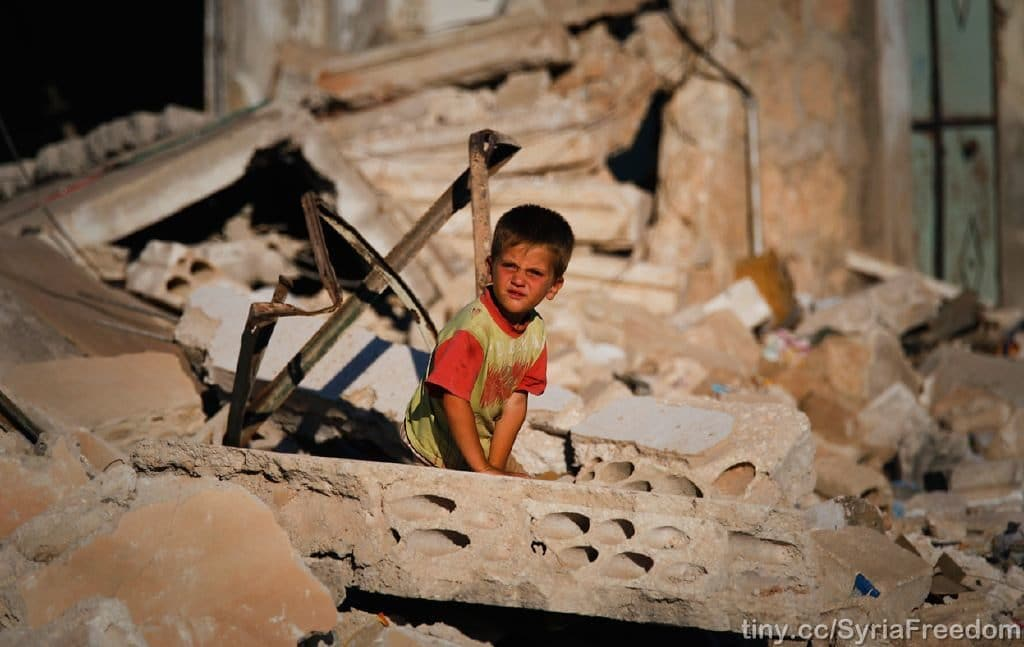 Macerie a Idlib in Siria. Foto Creative Commons - Freedom House