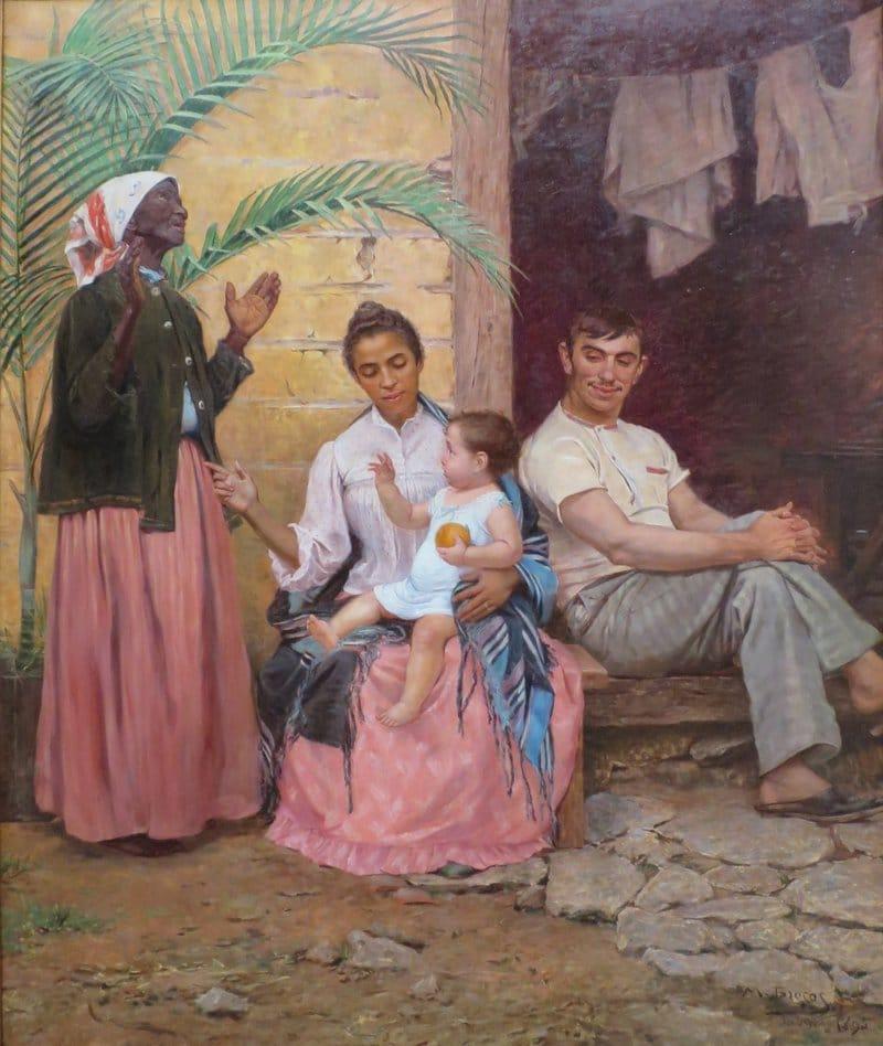 La redenzione di Cam. Una famiglia brasiliana diventa gradualmente più bianca. Immagine ripresa da Wikimedia Commons in licenza CC.