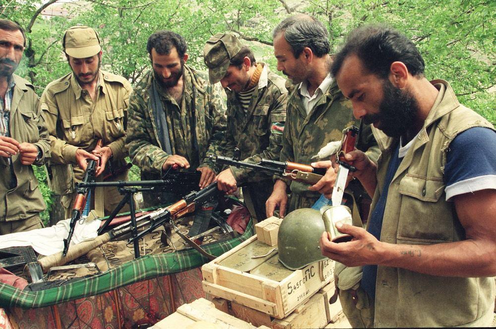 Soldati dell'Azerbaigian nella guerra in Nagorno Karabakh