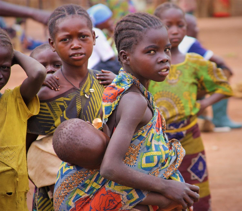 Bambine durante il conflitto in Repubblica Centrafricana