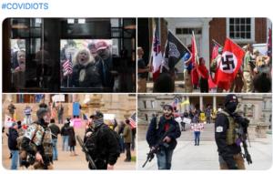 Proteste al parlamento del Michigan, 16/4/20