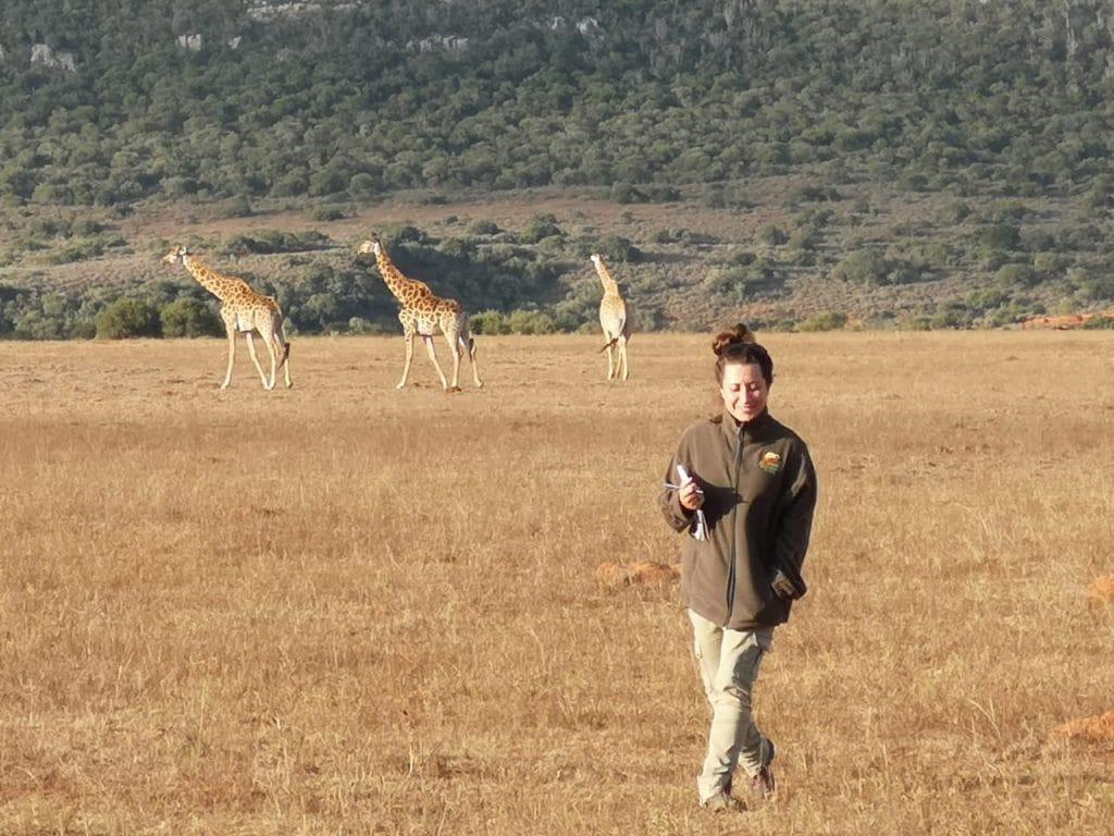 Entrambe le ultime due foto: Chiara durante la sua formazione di 5 mesi nella savana per diventare guida safari