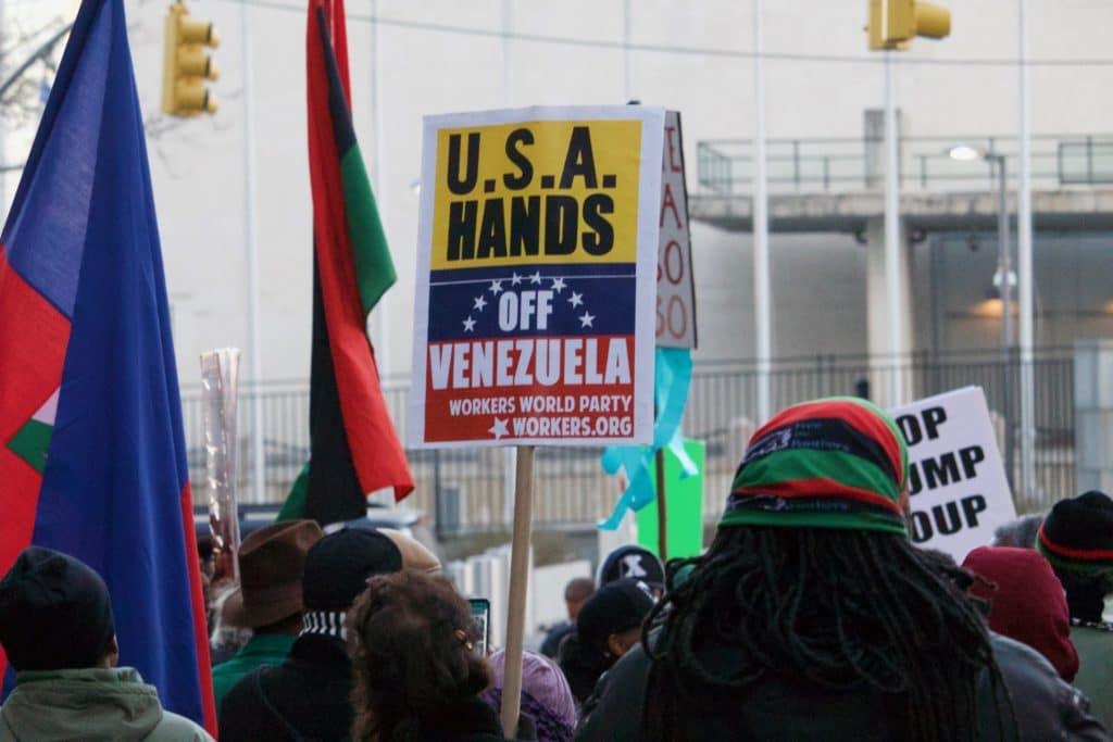 Proteste negli USA contro le sanzioni al Venezuela - Foto Flickr Creative Commons - Pamela Drew